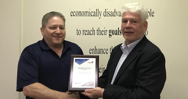 steve botello accepting hometown heroes award